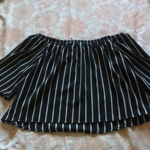 Forever 21 off the shoulder striped top